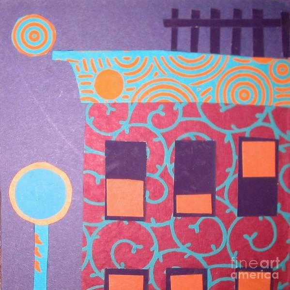 Cityscape Poster featuring the mixed media Moonlight Funk by Debra Bretton Robinson