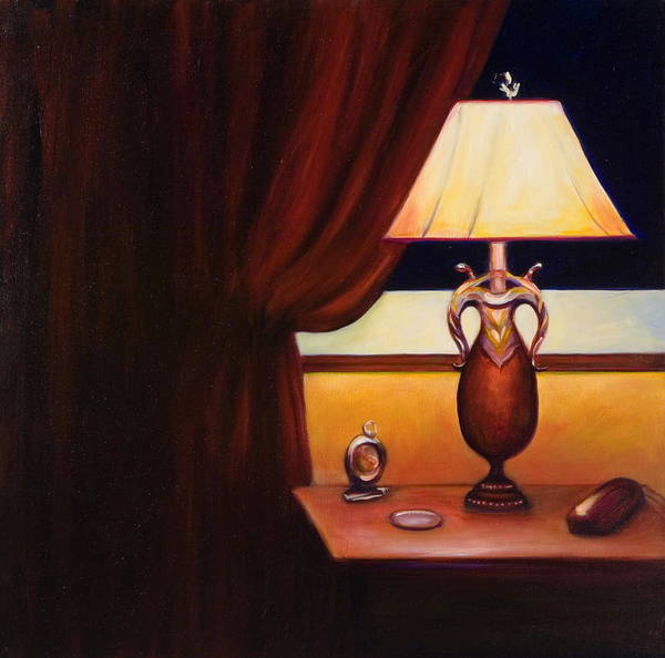 Still Life Red Poster featuring the painting Night by Shannon Grissom