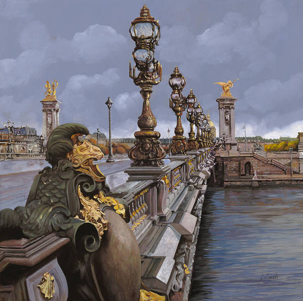 Paris Poster featuring the painting Paris-pont Alexandre IIi by Guido Borelli
