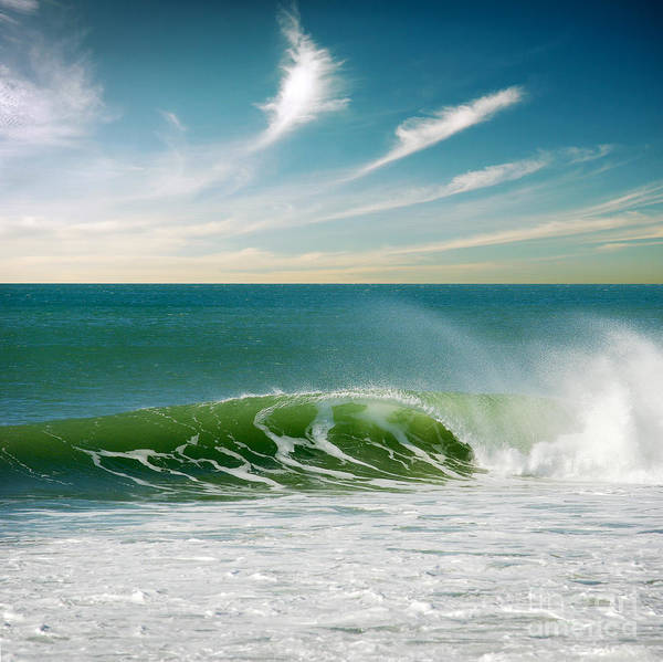 Atlantic Poster featuring the photograph Perfect Wave by Carlos Caetano