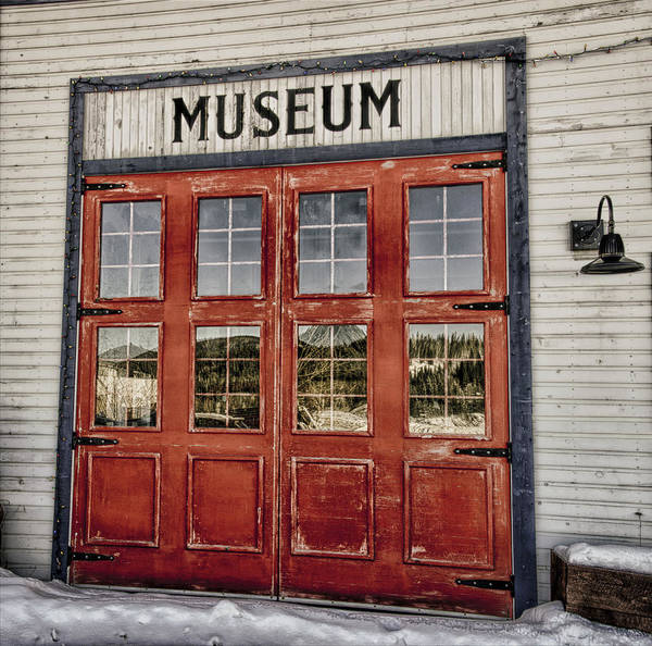 Red Poster featuring the photograph Red Museum Door by Craig Voth