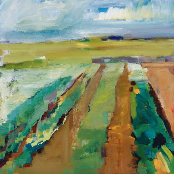 Impressionistic Landscape Poster featuring the painting Simple Fields by Michele Norris