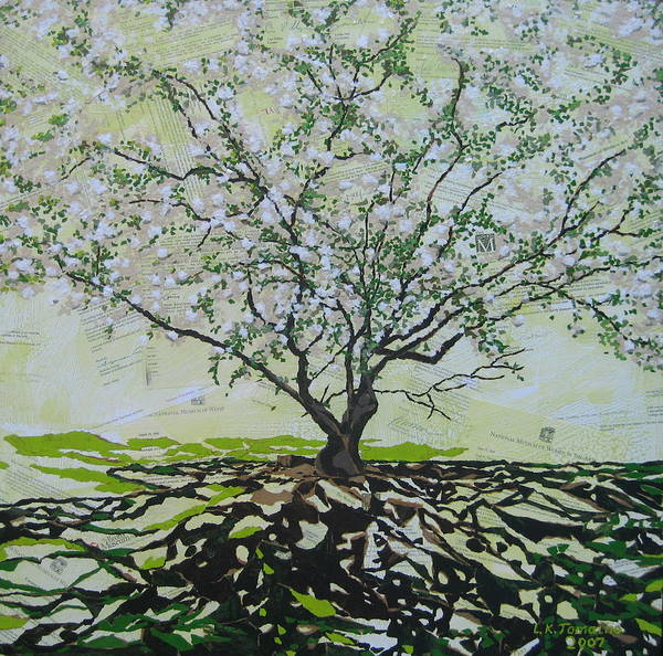 Apple Tree Poster featuring the painting Sincerely-the Curator by Leah Tomaino