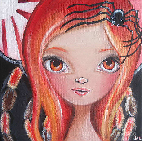Original Poster featuring the painting Spider Fairy by Jaz Higgins