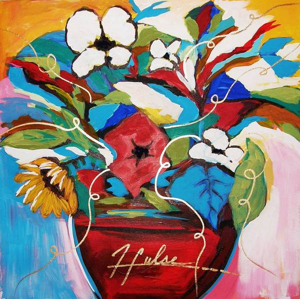 Floral Poster featuring the painting Still Dreaming Of Tuscany by Gina Hulse