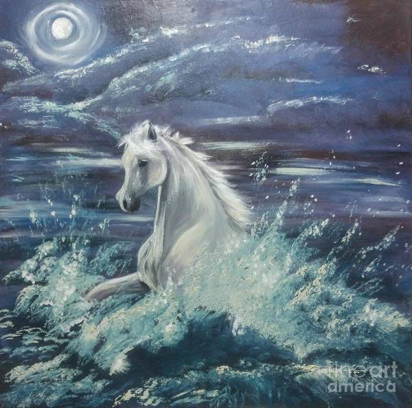 Surf Poster featuring the painting White Spirit by Abbie Shores