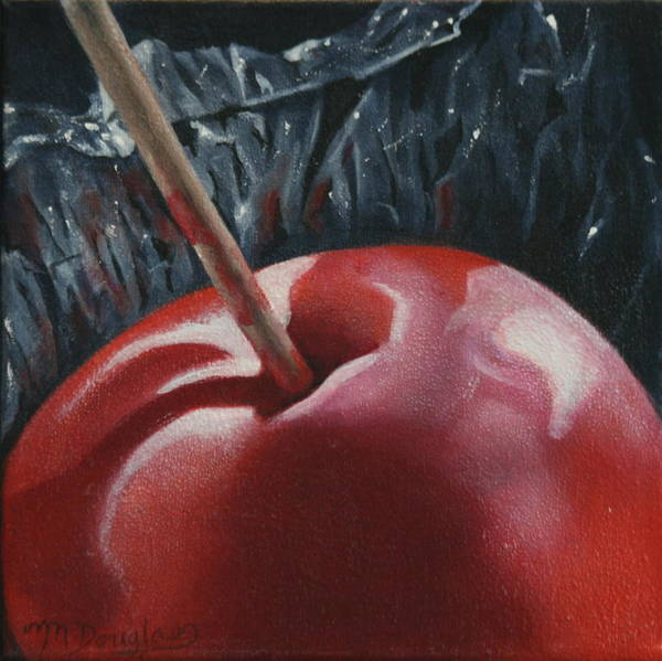 Red Poster featuring the painting Sweet And Tasty by Melodie Douglas