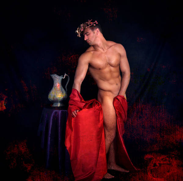 Male Nude Art Poster featuring the digital art Talk About It by Mark Ashkenazi