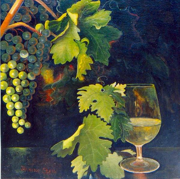 Wine Glass Poster featuring the painting The Fruit Of The Vine by Jeanene Stein