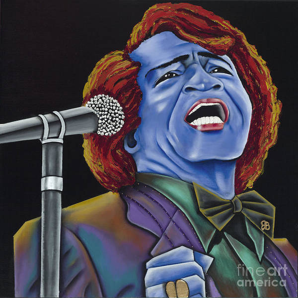 Blue Painting Poster featuring the painting The Godfather by Nannette Harris