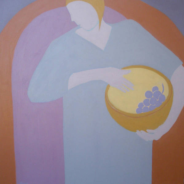 Woman Poster featuring the painting The Grape Bearer by Renee Kahn
