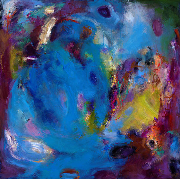 Abstract Expressionistic Poster featuring the painting Truth In Dreams II by Johnathan Harris