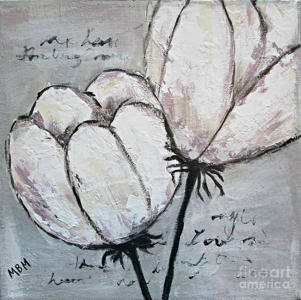 Tulips Poster featuring the painting Tulipe by Mary Mirabal