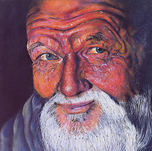 Art Poster featuring the pastel Wisdom by Curtis James