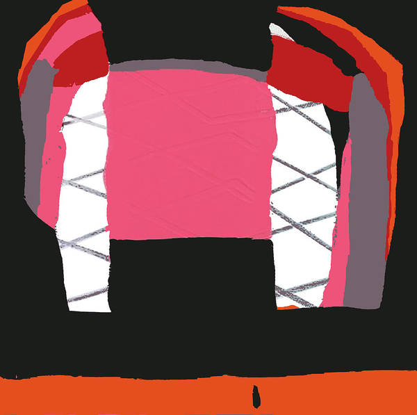 Print Poster featuring the painting Pink Orange by Yifat Gat