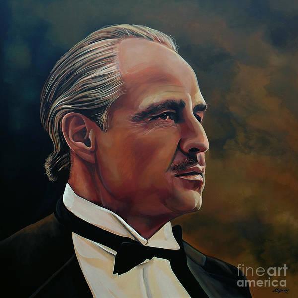 Marlon Brando Poster featuring the painting Marlon Brando by Paul Meijering