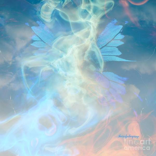 Angel Poster featuring the digital art Angel Wings And Heaven by Sherri Of Palm Springs