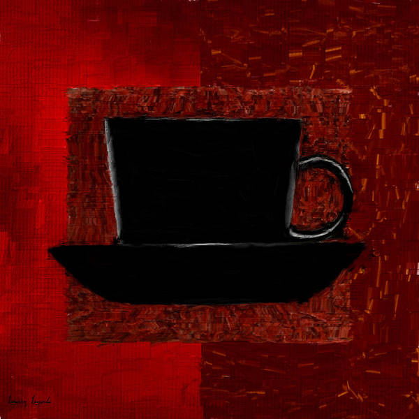Coffee Poster featuring the digital art Coffee Passion by Lourry Legarde
