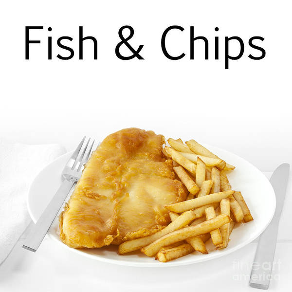 Fish And Chips Poster featuring the photograph Fish And Chips by Colin and Linda McKie