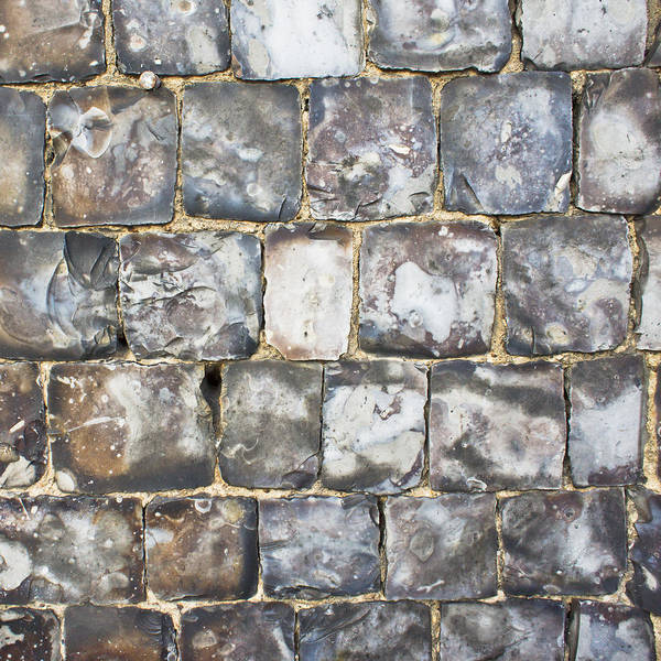 Abstract Poster featuring the photograph Flint Stone Wall by Tom Gowanlock