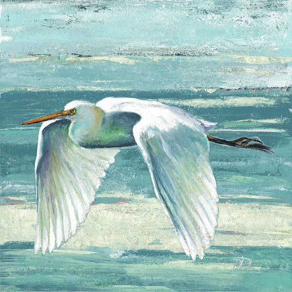 Coastal Poster featuring the painting Great Egret II by Patricia Pinto