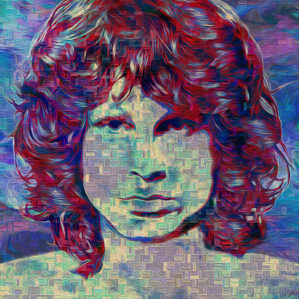 James Poster featuring the painting Jim Morrison by Jack Zulli
