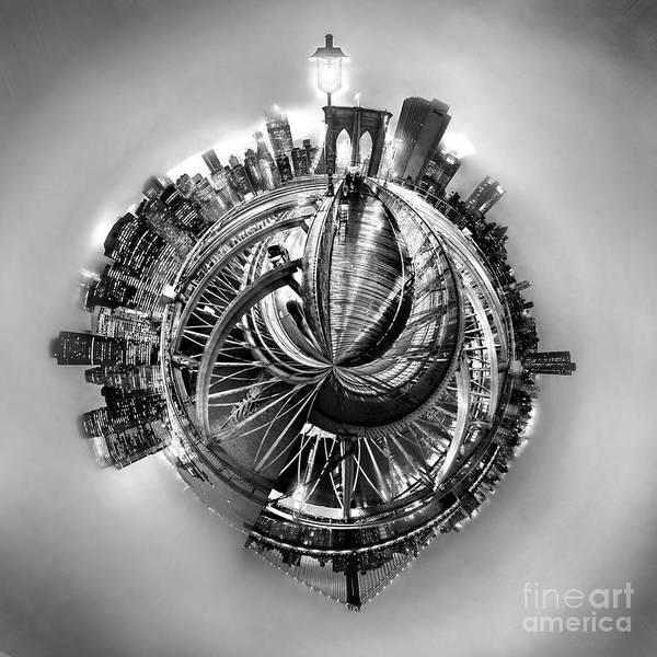 Brooklyn Bridge Poster featuring the photograph Manhattan World by Az Jackson