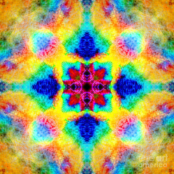 Rainbow Poster featuring the photograph Rainbow Light Mandala by Susan Bloom