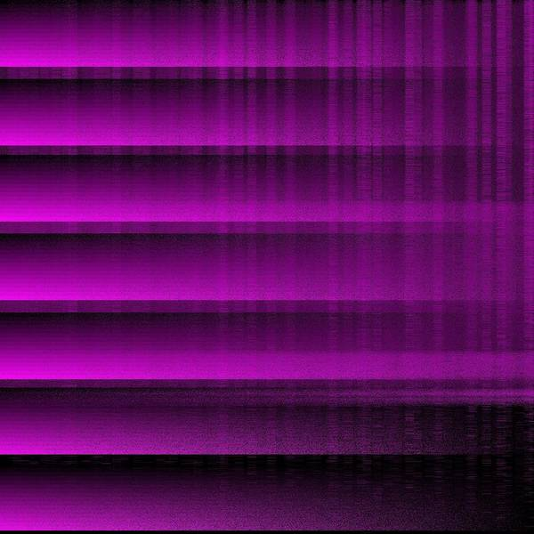 Purple 16 Shades Abstract Algorithm Digital Rithmart Poster featuring the digital art 16shades.5 by Gareth Lewis