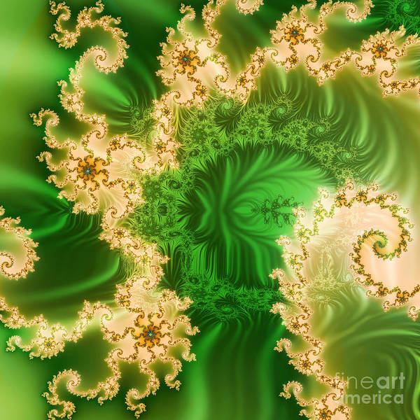Abstract Poster featuring the ceramic art Fantasy Fractal by Odon Czintos