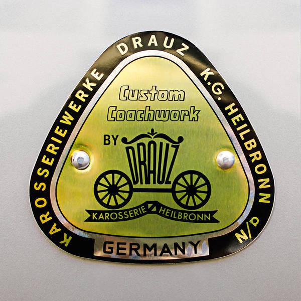 1960 Porsche 356 B 1600 Super Roadster Emblem Poster featuring the photograph 1960 Porsche 356 B 1600 Super Roadster Emblem by Jill Reger
