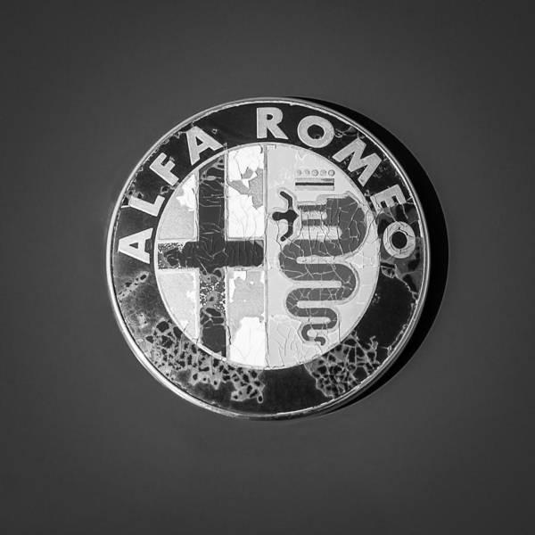 1986 Alfa Romeo Spider Quad Emblem Poster featuring the photograph 1986 Alfa Romeo Spider Quad Emblem by Jill Reger