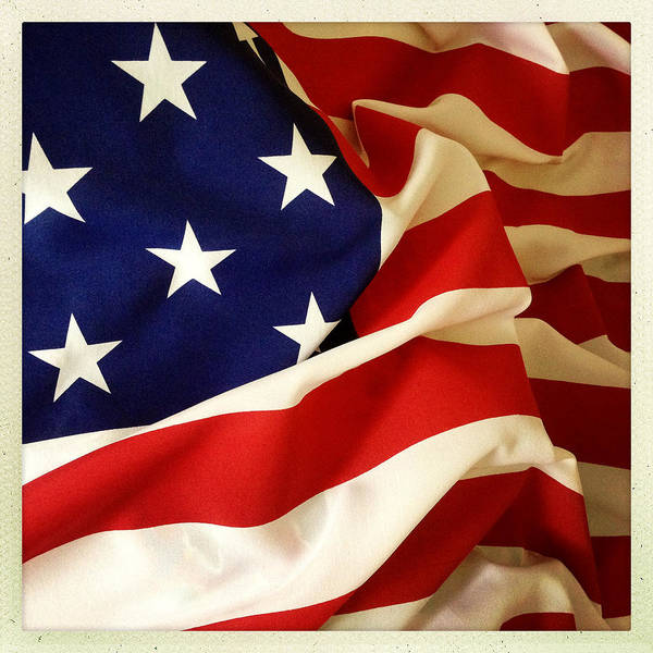 Backgrounds Poster featuring the photograph American Flag by Les Cunliffe