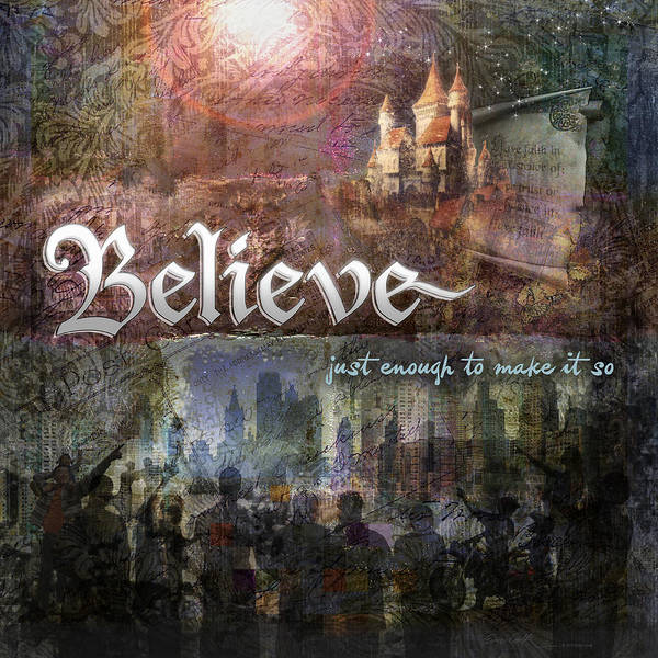 Inspirational Art Poster featuring the digital art Believe by Evie Cook