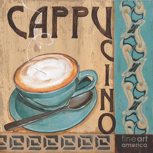 Food Poster featuring the painting Cafe Nouveau 1 by Debbie DeWitt