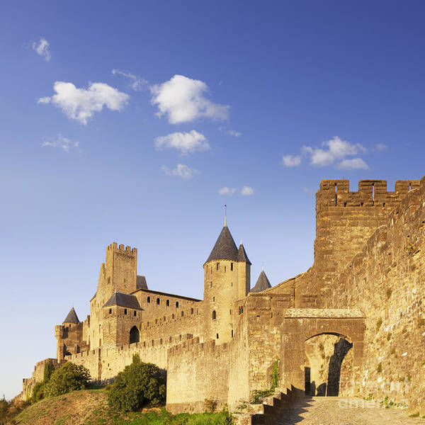 Carcassonne Poster featuring the photograph Carcassonne Languedoc-roussillon France by Colin and Linda McKie