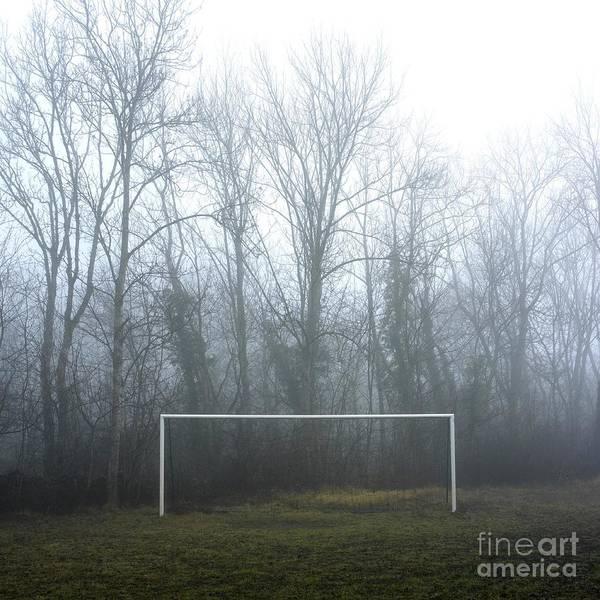 Abandoned Poster featuring the photograph Goal by Bernard Jaubert