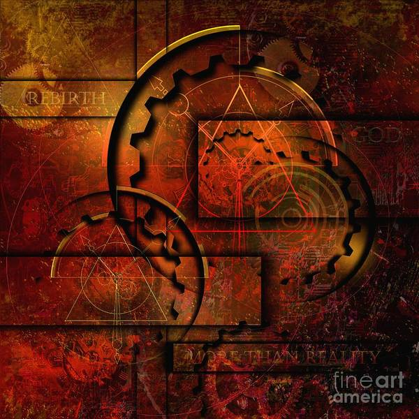 Rust Poster featuring the digital art More Than Reality by Franziskus Pfleghart