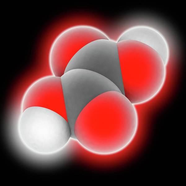 Acid Poster featuring the photograph Oxalic Acid Molecule by Laguna Design
