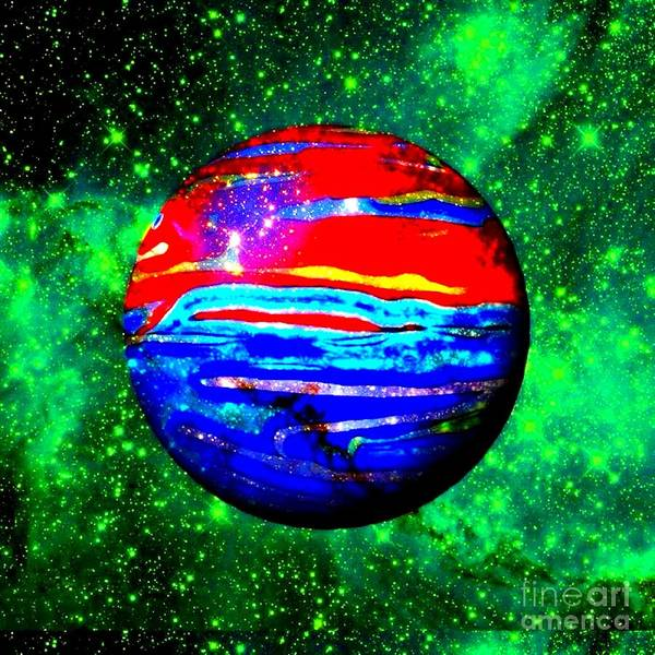 Planet Poster featuring the photograph Planet Disector Red 1 by Saundra Myles