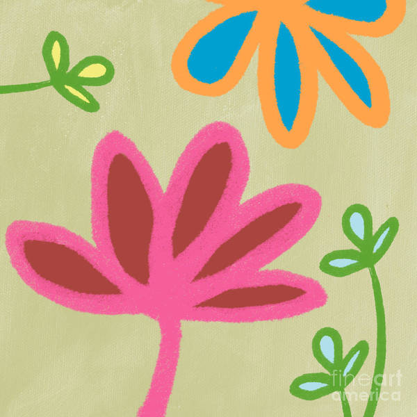 Flower Poster featuring the painting Bali Garden by Linda Woods