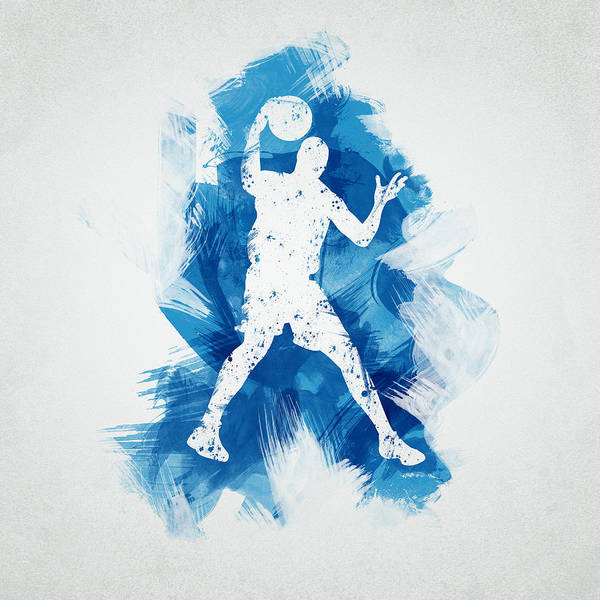 Abstract Poster featuring the digital art Basketball Player by Aged Pixel