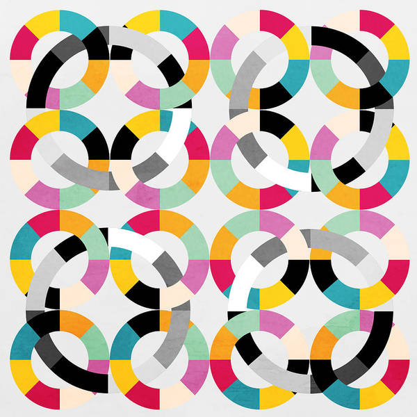 Contemporary Poster featuring the painting Geometric by Mark Ashkenazi