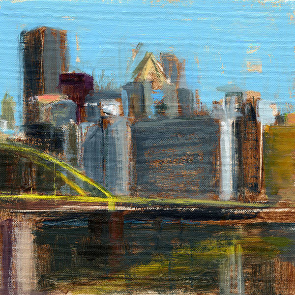 Pittsburgh Poster featuring the painting Rcnpaintings.com by Chris N Rohrbach