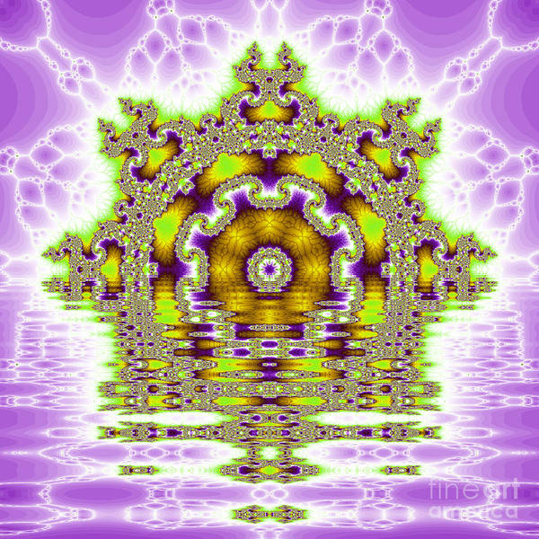 Fracta Poster featuring the digital art The Kaleidoscope Reflections by Odon Czintos