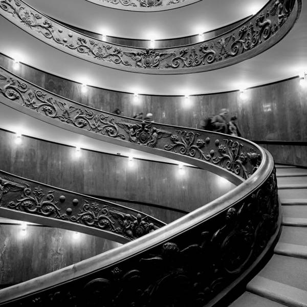 2013. Poster featuring the photograph The Vatican Stairs by Jouko Lehto