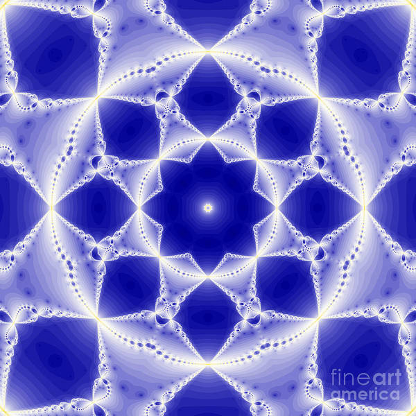 Abstract Poster featuring the digital art Fantasy Fractal by Odon Czintos