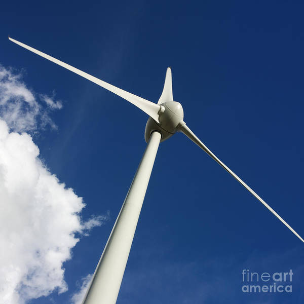 Renewable Energy Poster featuring the photograph Wind Turbine by Bernard Jaubert