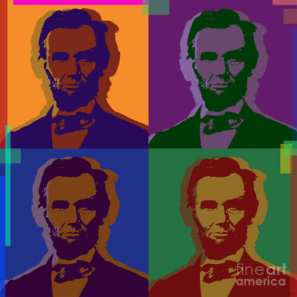 Lincoln Poster featuring the digital art Abraham Lincoln by Jean luc Comperat