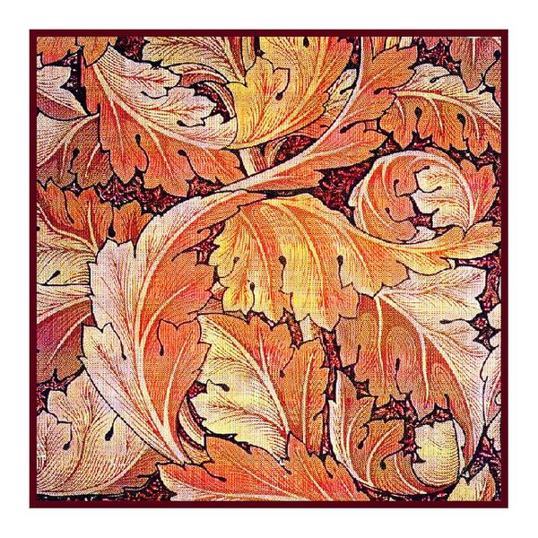 William Poster featuring the tapestry - textile Acanthus Vine Design by William Morris